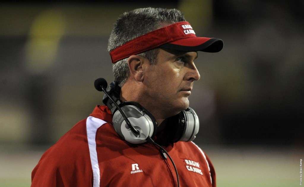 Mark Hudspeth has intensity and expectations high for his UL-Lafayette football program.