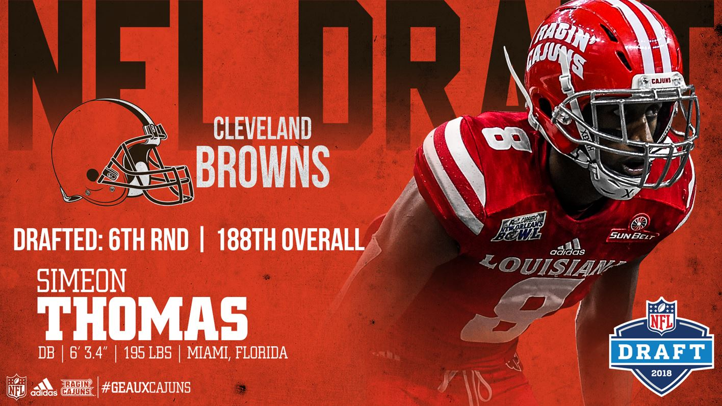 Thomas Drafted By Cleveland Browns In Sixth Round Of 2018 NFL Draft