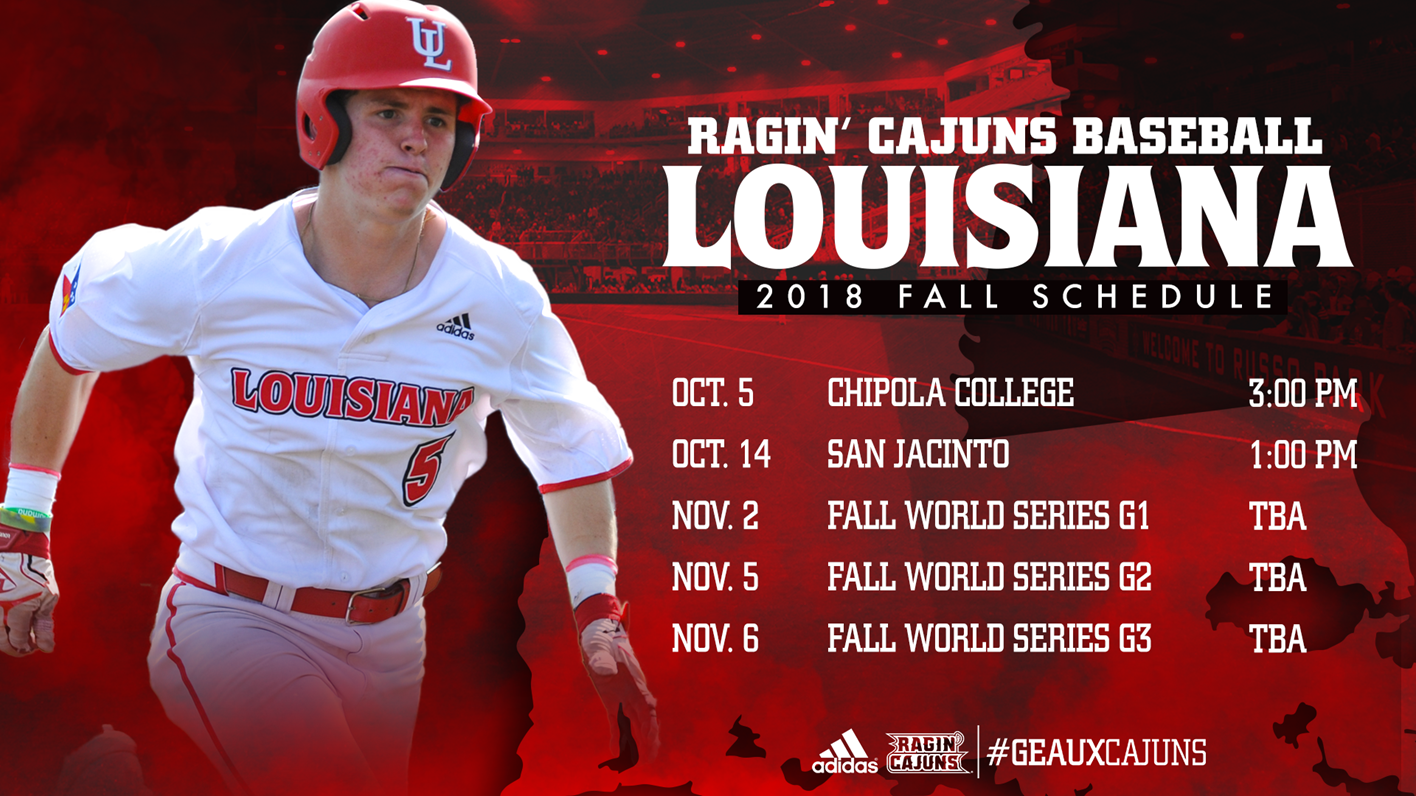 2018 Fall Baseball Schedule Graphic