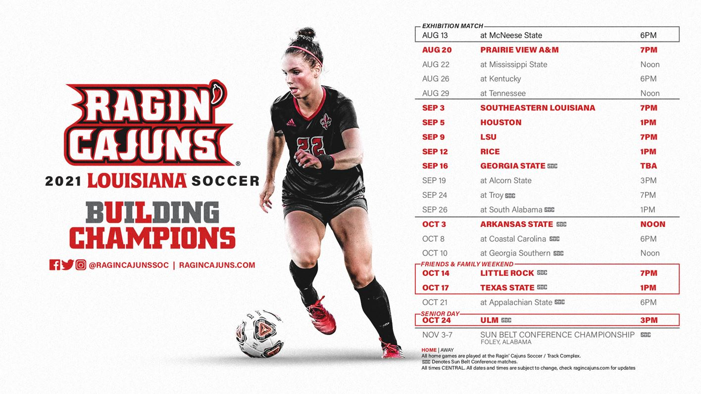 2021 Soccer Schedule Graphic