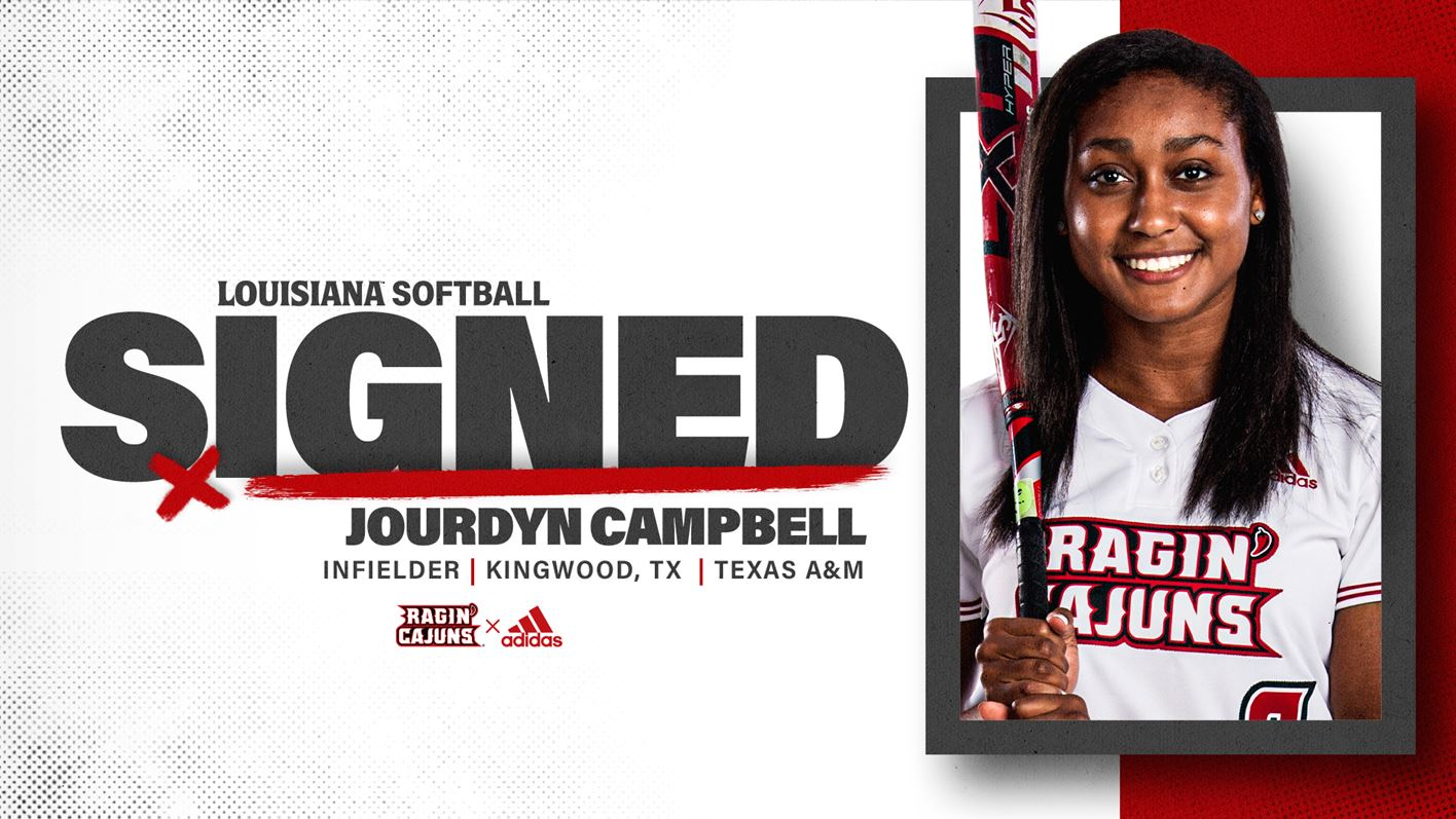 Softball Signed Jourdyn Campbell Graphic
