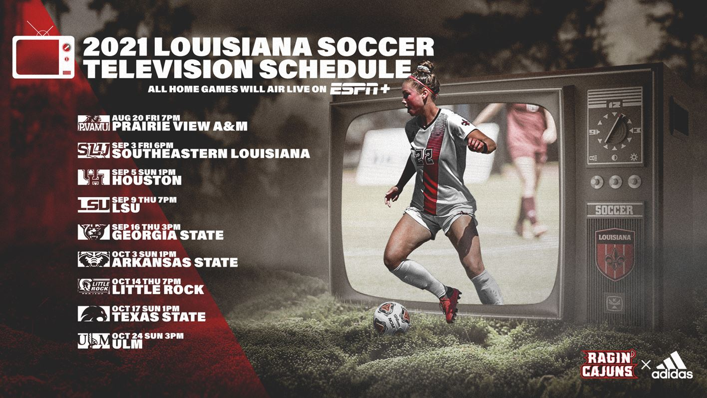 2021 Soccer TV Schedule Graphic